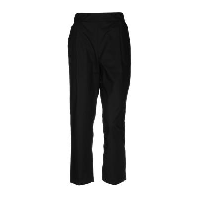 セミクチュール SEMICOUTURE パンツ ブラック 40 コットン 100% パンツ