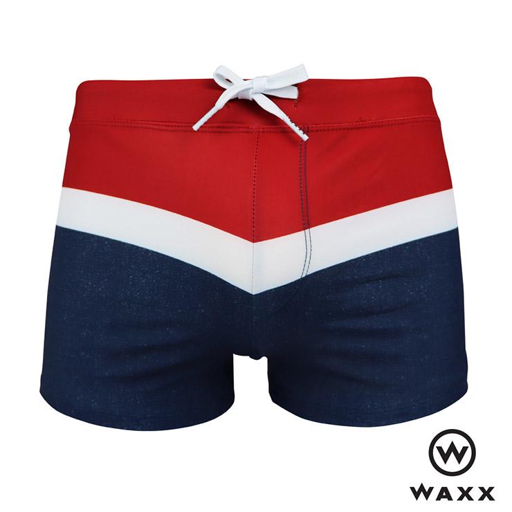 ★限時7折★WAXX海島系列 法國巴黎快乾型男四角泳褲(紅色),201WA-MS12316,男泳褲