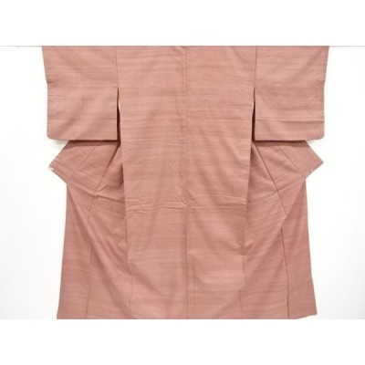 宗sou 横段織り出し手織り節紬着物【リサイクル】【着】