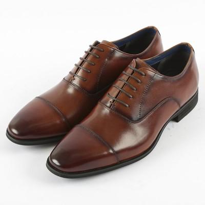 a.v.v アーヴェヴェ メンズ 本革ビジネス ストレートチップ A30000 ブラウン 25cm〜27cm  靴 シューズ