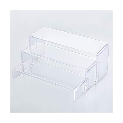 Goabroa アクリルディスプレイライザー 透明長方形スタンドシェルフ ディスプレイ用 6個【並行輸入品】