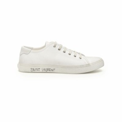 SAINT LAURENT PARIS/イヴ サンローラン White Saint laurent malibu canvas sneakers メンズ 春夏2021 606408 GUZ20 ik