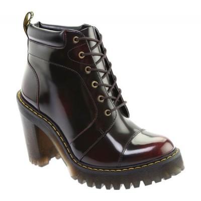 ドクターマーチン Dr. Martens レディース ブーツ シューズ・靴 Averil 6-Eye Ankle Boot Cherry Red Arcadia Rub-Off Leather