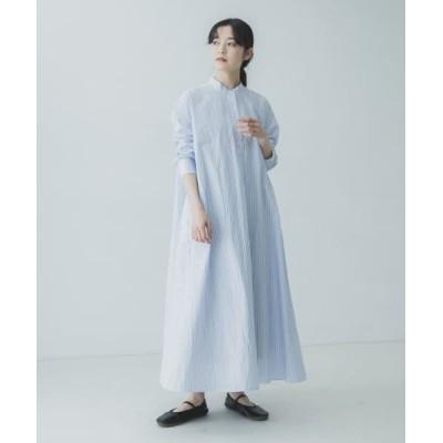 (KAGURE/カグレ)ストライプAラインシャツワンピース/レディース STRIPEB