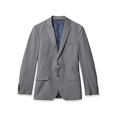 Haggar メンズ 4ウェイストレッチ プレーンウィーブ ウルトラスリム 2つボタン フラップポケットスーツ セパレートコート US サイズ: 44