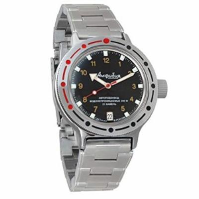 Vostok #420270 自動巻き ロシア軍 腕時計 Amphibian 60(中古品)