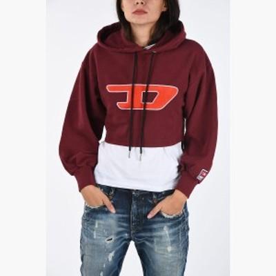 DIESEL/ディーゼル スウェットシャツ Red レディース 秋冬2019 Cropped F-DINIE-B Sweatshirt dk