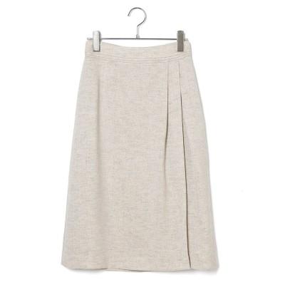 【ロペ】 麻調タックタイトスカート レディース ベージュ系 36 ROPE'