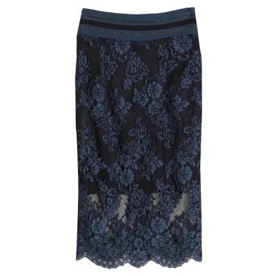 LANACAPRINA ひざ丈スカート ブルーグレー 40 ナイロン 40% / コットン 35% / レーヨン 25% ひざ丈スカート