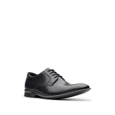 クラークス メンズ ドレスシューズ シューズ Bensley Plain Toe Oxford BLACK LEAT