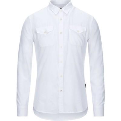 ジョン バルベイトス JOHN VARVATOS U.S.A. メンズ シャツ トップス solid color shirt White