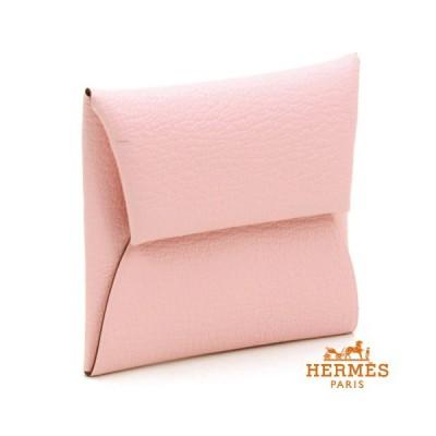 HERMES エルメス 財布 バスティアGM 小銭入れ 039759CK:ローズサクラT ピンク シルバー かわいい 綺麗