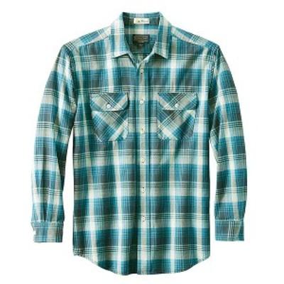 ペンドルトン メンズ シャツ トップス Pendleton Men's Long Sleeve Beach Shack Twill Shirt Blue Grey Plaid