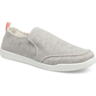 バイオニック VIONIC レディース スリッポン・フラット スニーカー シューズ・靴 Beach Collection Malibu Slip-On Sneaker Light Grey Fabric