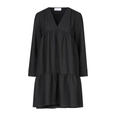 SOALLURE ミニワンピース&ドレス ブラック 40 ポリエステル 75% / レーヨン 23% / ポリウレタン 2% ミニワンピース&ドレス