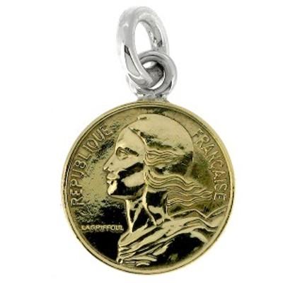 コイン ペンダントトップ ペンダントヘッド(チェーンなし) 5サンチーム 女神像 ゴールド ネックレス ペンダント シルバー925 銀