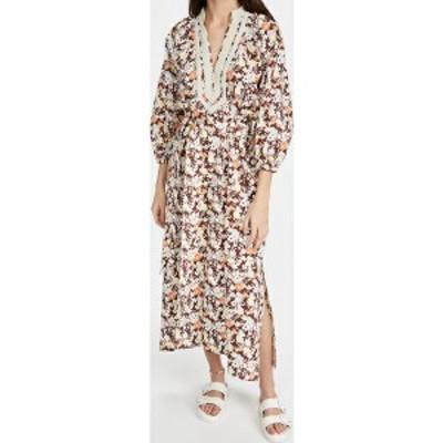 (取寄)トリーバーチ レディース プリンテッド パフド スリーブ チュニック ドレス Tory Burch Women's Printed Puffed Sleeve Tunic Dres