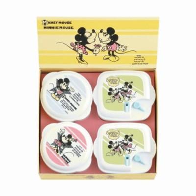 ミッキー&ミニー ヴィンテージコミック電子レンジ容器4pcセット 日本製 内祝 出産内祝 結婚内祝 快気祝 初節句内祝い ギフトに!