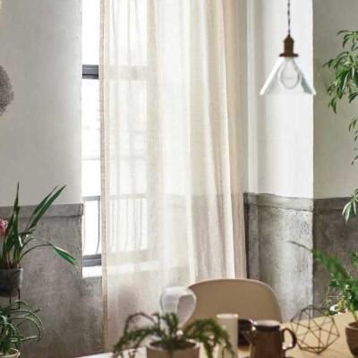 カーテン&シェード 価格 交渉 送料無料 川島セルコン !´m アイム design lace ME8491 スタンダード縫製 約1.5倍ヒダ