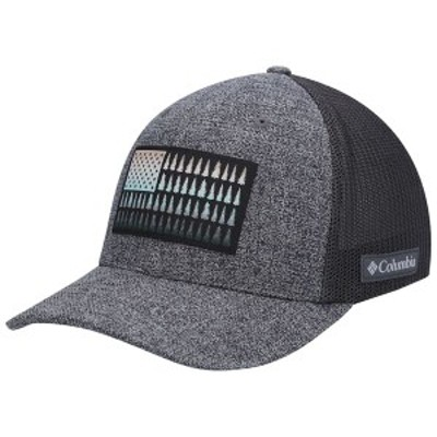 コロンビア メンズ 帽子 アクセサリー Columbia Mesh Tree Flag Flex Hat Heathered Charcoal/Black
