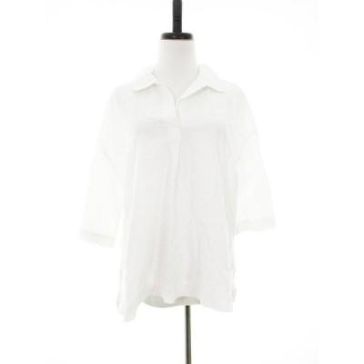 【中古】ユニ YUNI シャツ 七分袖 無地 F 白 ホワイト /MO レディース 【ベクトル 古着】
