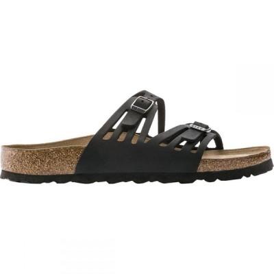 ビルケンシュトック Birkenstock レディース サンダル・ミュール シューズ・靴 Granada Soft Footbed Leather Sandal Black Oiled Leather
