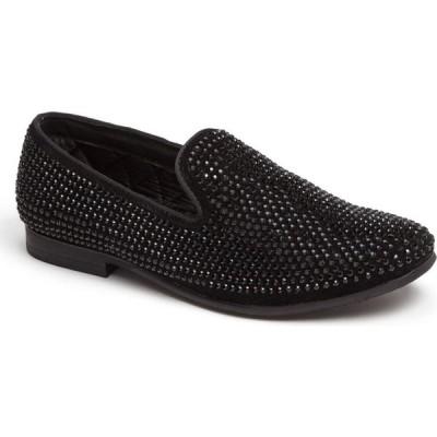 スティーブ マデン STEVE MADDEN メンズ スリッポン・フラット シューズ・靴 'Caviarr' Slip-On Black Rhinestones