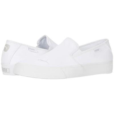 プーマ Bari Slip-On Cat レディース スニーカー Puma White/Puma White