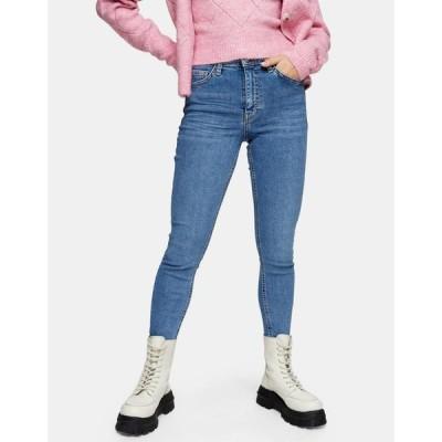 トップショップ Topshop Petite レディース ジーンズ・デニム スキニー ボトムス・パンツ Jamie Skinny Jeans In Mid Wash ブルー