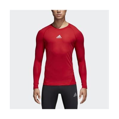 【販売主:スポーツオーソリティ】 アディダス/メンズ/ALPHASKIN TEAM ロングスリーブシャツ メンズ パワーレッド O SPORTS AUTHORITY
