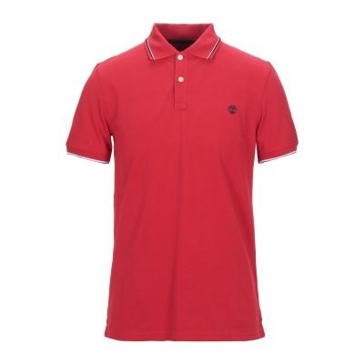 ティンバーランド TIMBERLAND ポロシャツ レッド M コットン 100% ポロシャツ