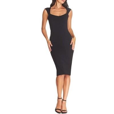 ドレスザポプレーション レディース ワンピース トップス Cordelia Stretch Crepe Sweetheart Neck Bodycon Midi Sheath Dress