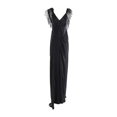REDEMPTION ロングワンピース&ドレス ブラック 38 シルク 100% ロングワンピース&ドレス