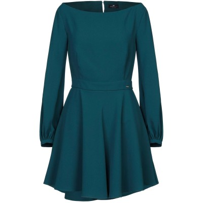 ELISABETTA FRANCHI ミニワンピース&ドレス ディープジェード 44 ポリエステル 100% ミニワンピース&ドレス