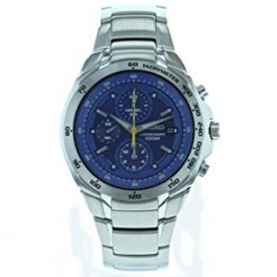 Seiko Men's SND699 Stainless Steel Analog with Blue Dial Watch