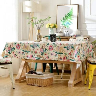 テーブルクロス 北欧 長方形 田園風 コットリネンテーブルクロス テーブルカバー おしゃれ 食卓テーブルクロス 130x180cm パーティー ダイニング キッチン