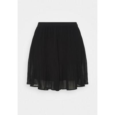 バナナ リバブリック レディース スカート ボトムス PLISSE - Mini skirt - black black