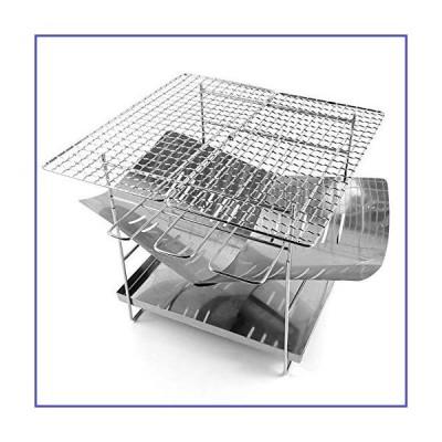 折りたたみ式ステンレス鋼バーベキューグリル棚キャンプファイヤーピットバックパッキング薪ストー