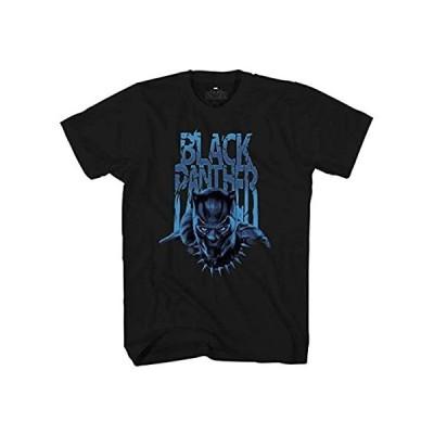 並行輸入品 マーベル ブラックパンサーラインオーバーレイメンズグラフィックTシャツ US サイズ: XX-Large カラー: ブラック