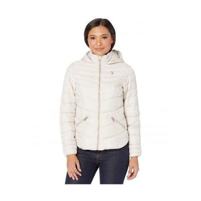 U.S. POLO ASSN. USポロ レディース 女性用 ファッション アウター ジャケット コート ダウン・ウインターコート Moto Jacket Hood - White Pearl