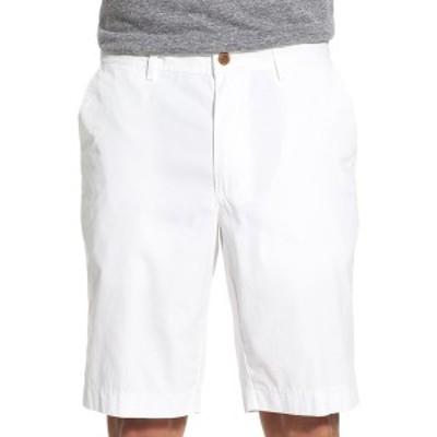 ブラックス メンズ カジュアルパンツ ボトムス Flat Front Stretch Cotton Shorts WHITE