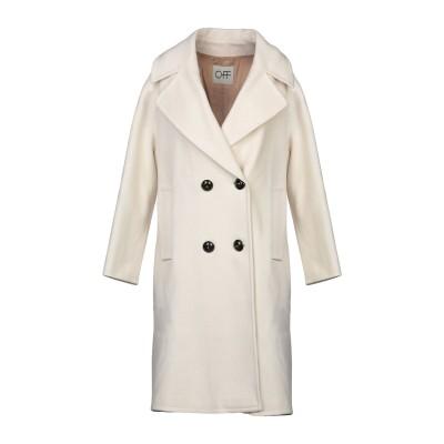 OFF コート ホワイト 40 バージンウール 80% / ナイロン 20% コート
