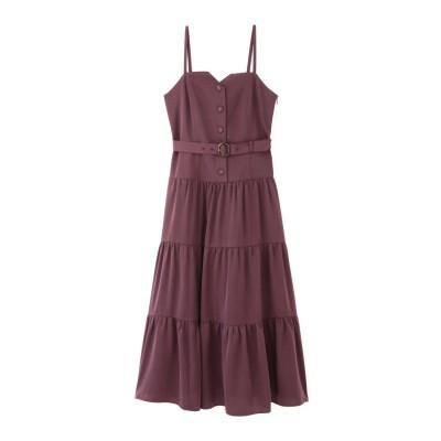 【先行予約9月下旬-10月上旬入荷予定】ビスチェティアードジャンパースカート