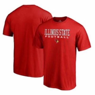 Fanatics Branded ファナティクス ブランド スポーツ用品  Fanatics Branded Illinois State Redbirds Red True Sport Football T-Shirt