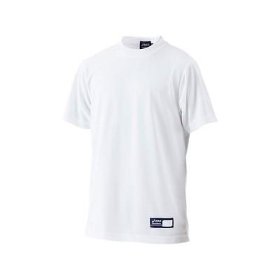Jr.ベースボールTシャツ (ホワイト)  ASICS アシックス (BAT01J-01)