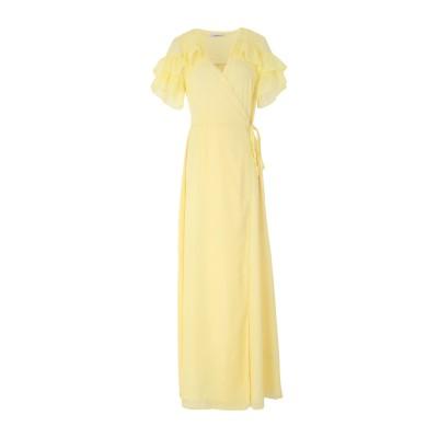 GLAMOROUS ロングワンピース&ドレス イエロー 8 ポリステロール 100% ロングワンピース&ドレス