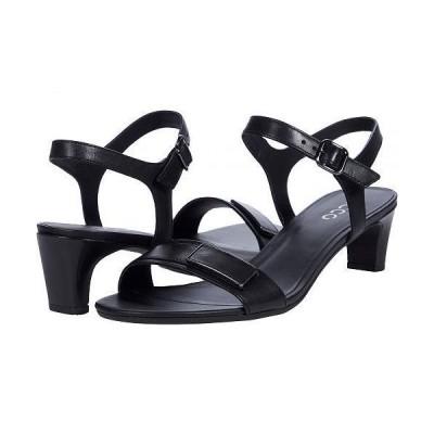 ECCO エコー レディース 女性用 シューズ 靴 ヒール Shape 45 Sleek Sandal - Black Cow Leather