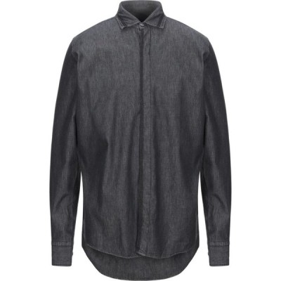 ガッザリーニ GAZZARRINI メンズ シャツ デニム トップス denim shirt Black