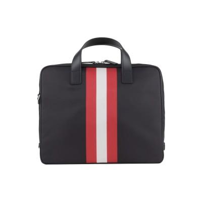 BALLY ブリーフケース ブラック 紡績繊維 / 革 ブリーフケース