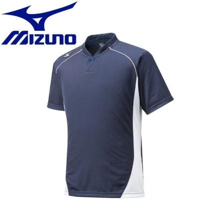 【メール便対応】ミズノ 野球 グローバルエリート ベースボールシャツ ジュニア ハーフボタン 小衿タイプ 12JC6L1274